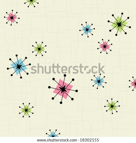 Retro-inspired star background. Easy to edit colors. - stock vector