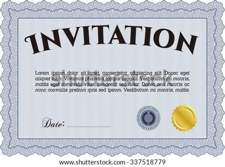 Retro invitation. Excellent design. Border, frame.Printer friendly.  - stock vector