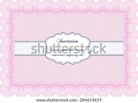 Retro invitation. Printer friendly. Beauty design. Customizable, Easy to edit and change colors. - stock vector