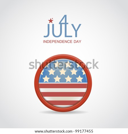 Retro 4 july vector badge - stock vector