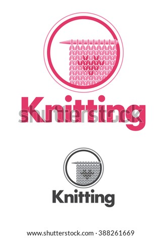Retro knitting badges, labels and logo elements, retro symbols for local yarn shop, knit club, handmade artist or knitwear company - stock vector