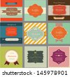 retro labels and vintage invitation cards - stock