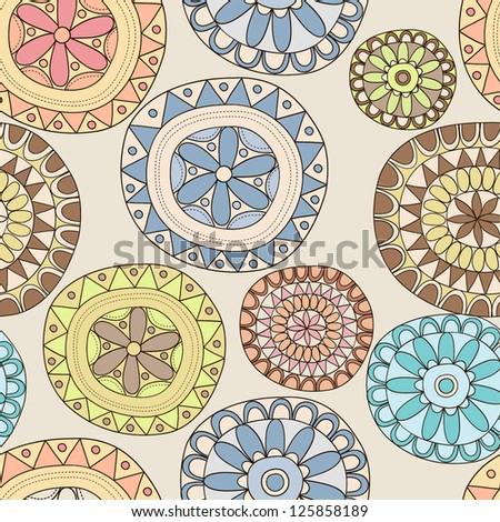 Retro lace seamless pattern - stock vector