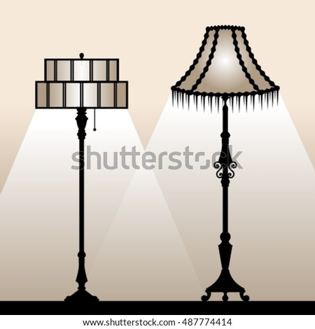 Retro lampshades silhouettes vintage floor lamps stock photo photo retro lampshades silhouettes of vintage floor lamps vector illustration aloadofball Choice Image