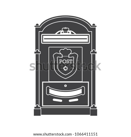 Retro Letter Post Outline Illustration Vintage Stock Vector - Mailbox label template