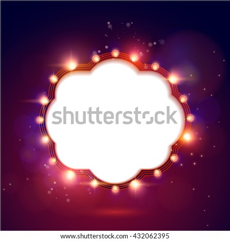 retro light frame - stock vector