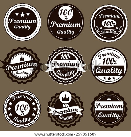 Retro logo template. Vintage Labels set.