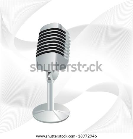 retro microphone - stock vector