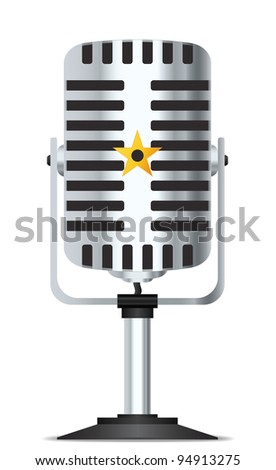 Retro microphone in vector