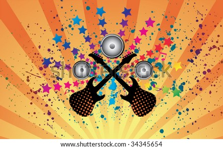 Retro Music Abstract - stock vector