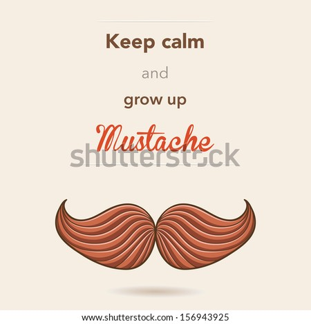 Retro mustache postcard - stock vector