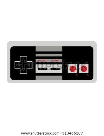 Retro Nineteen Eighties Video Game Controller - stock vector