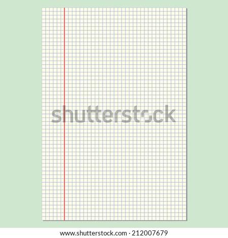 Retro notebook sheet for your design. EPS10 vector. - stock vector