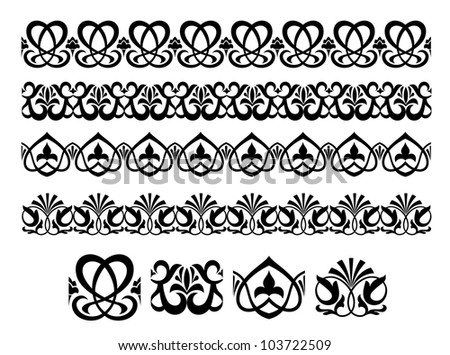 Retro ornaments and embellishments for ornate and decoration. Jpeg version also available in gallery - stock vector
