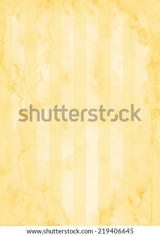 Retro paper texture with stripes - imitation of old paper, papyrus or parchment - stock vector