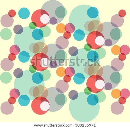 Retro pattern of geometric round shapes. Colorful banner. Geometric hipster retro background with place for your text. Retro background  - stock vector