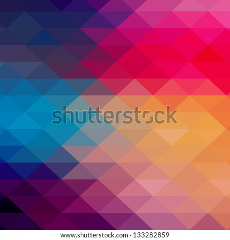 Retro pattern of geometric shapes. Colorful mosaic banner. Geometric hipster retro background with place for your text. Retro triangle background - stock vector