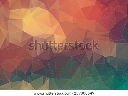 Retro pattern of geometric shapes. Geometric triangle background. - stock vector