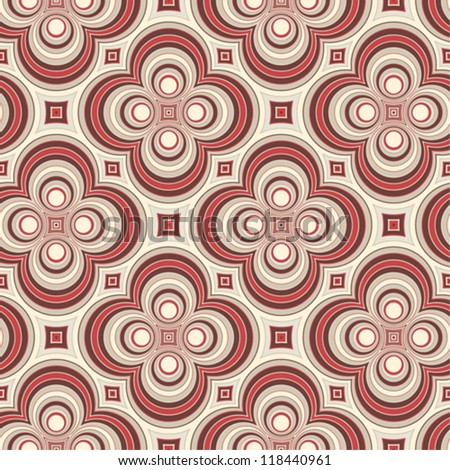 Retro pattern with circles - stock vector