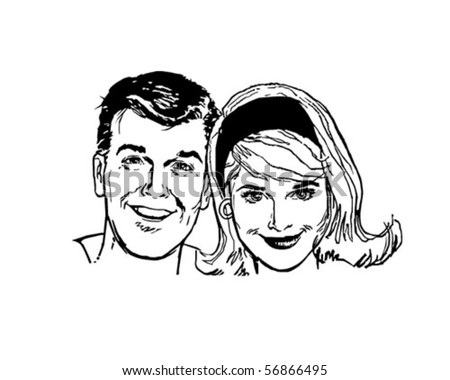 Retro People - Clip Art - stock vector