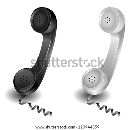 retro phone - stock vector