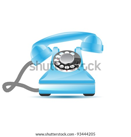 Retro phone and touch-phone, vector illustration, eps10