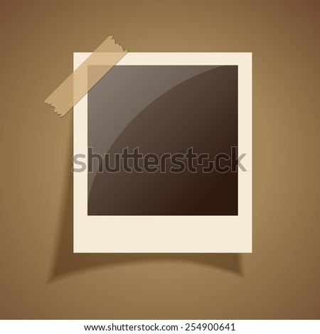 Retro photo frame - stock vector