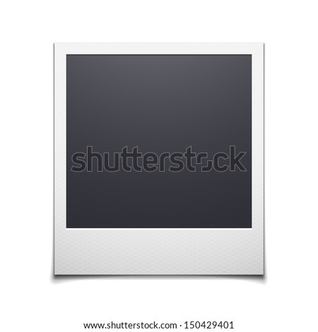 retro photo frame isolated on white background. Vector illustration - stock vector