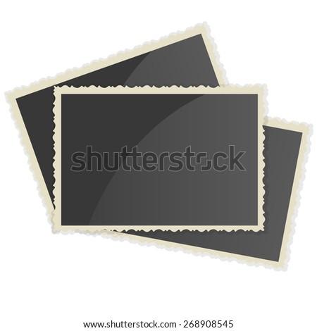Retro Photo Frame   On White Background. Vector illustration - stock vector