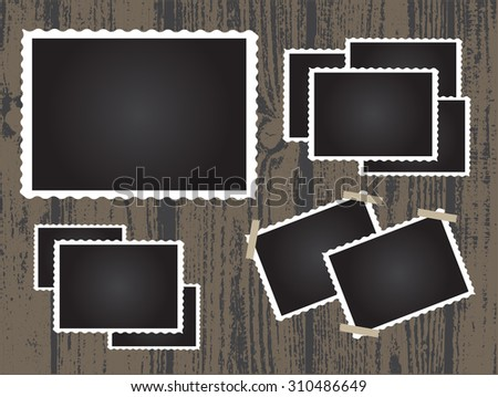 Retro photo frames.Old photo frames.Vector illustration. - stock vector