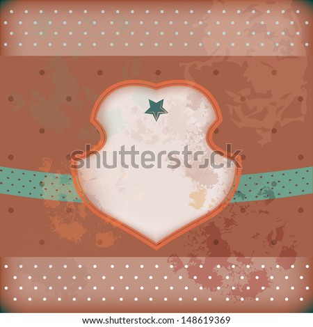 Retro pink and blue vector well-crafted greeting card for different occasions: birthday or houseworming party, Christmas, New Year, invitation, menu design or another event  - stock vector