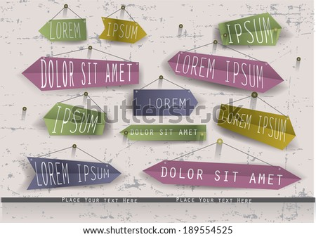 Retro pointers. Abstract vector illustration. - stock vector