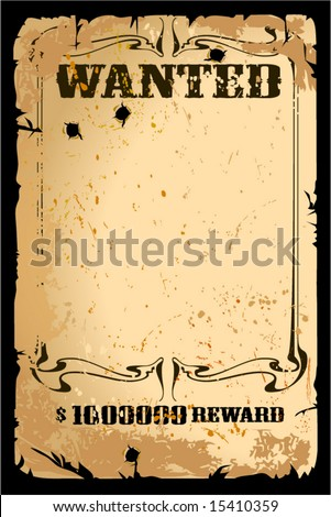 Retro poster in Wild West style - stock vector