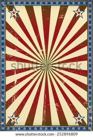 Retro poster patriotic background. A patriotic background with a texture for your publicity - stock vector