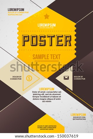 Retro poster template - stock vector