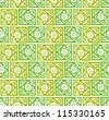 Retro Primitive Vector Flower Background Floral Texture - stock