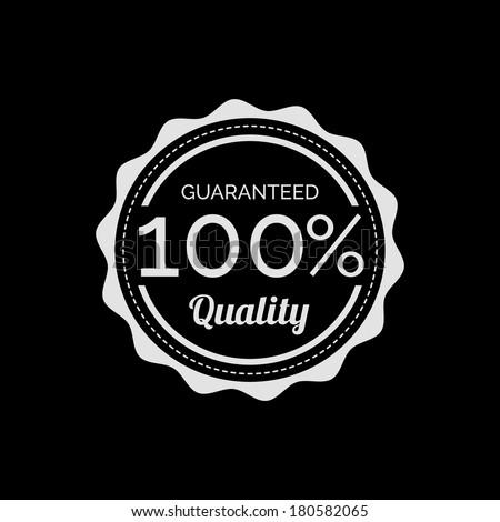 Retro  Quality Guaranteed Label - stock vector