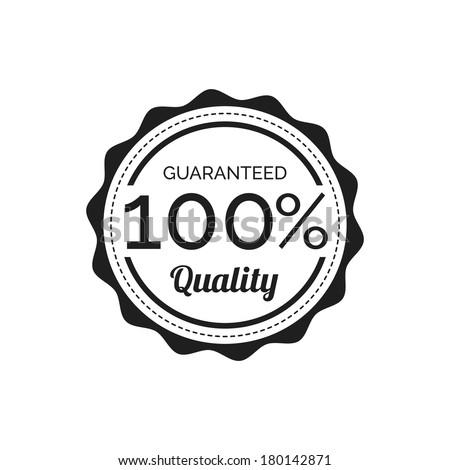 Retro Quality Label  - stock vector