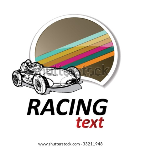 retro racing sign #1 - stock vector