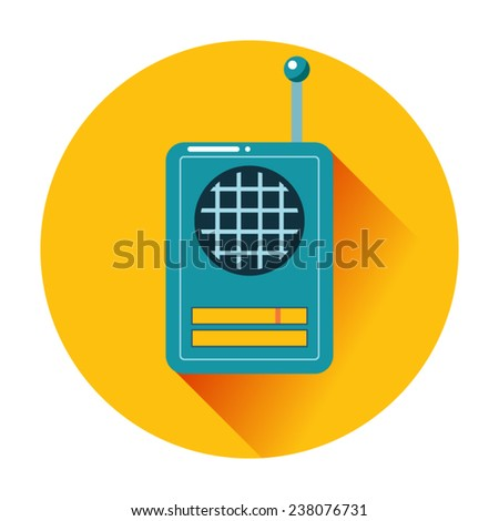 retro radio icon communication isolated - stock vector
