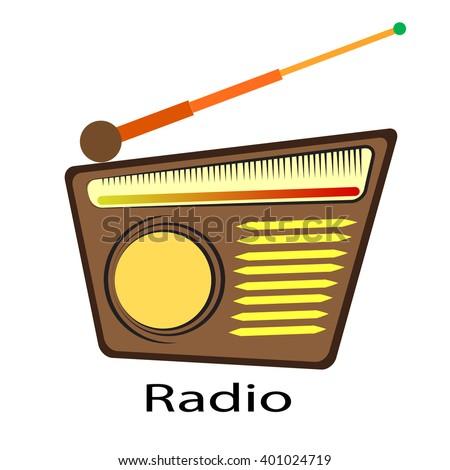 Retro radio. Vector illustration - stock vector