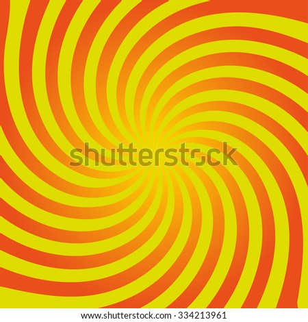 Retro ray background orange color  stylish illustration - stock vector