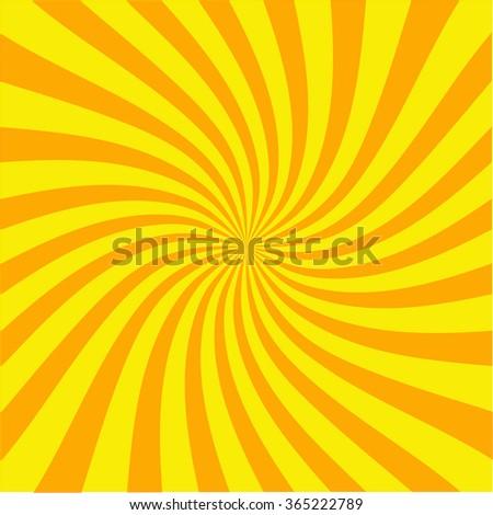 Retro ray background yellow color stylish illustration - stock vector