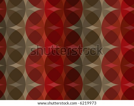 retro red brown circle pattern (vector) - stock vector