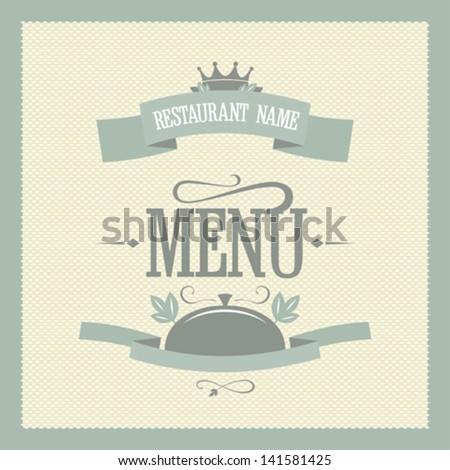 Retro restaurant menu card design template - stock vector