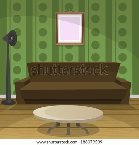 Retro Room - stock vector