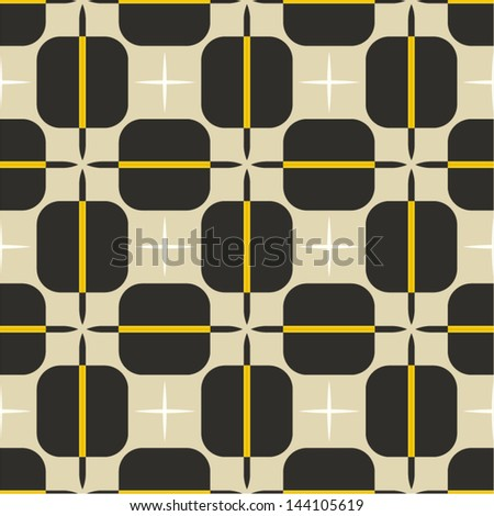 retro seamless abstract geometric pattern - stock vector