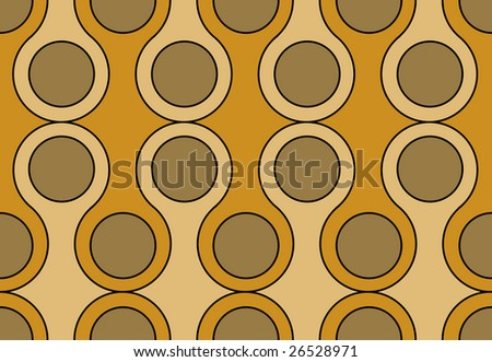 Retro seamless circles background pattern - stock vector