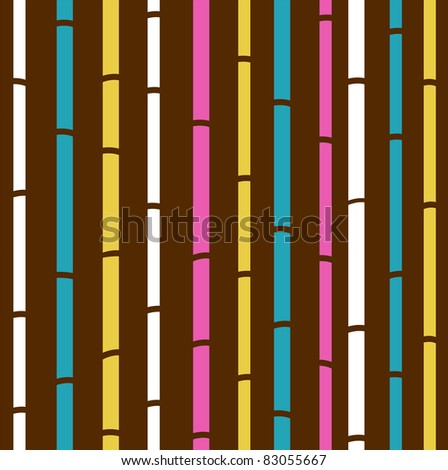 Retro seamless colorful bamboo pattern or texture. Fresh colorful bamboo pattern stripes - retro vector background. - stock vector