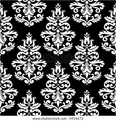 RETRO SEAMLESS DAMASK PATTERN VOL. WHITE 01 - stock vector